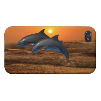Bottlenose Dolphin at Sunset iPhone 4 Cover