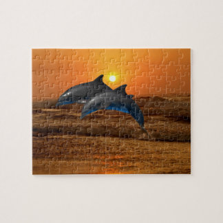 Bottlenose Dolphin at Sunset Jigsaw Puzzle