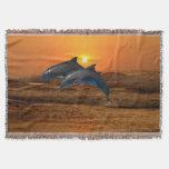 Bottlenose Dolphin at Sunset Throw