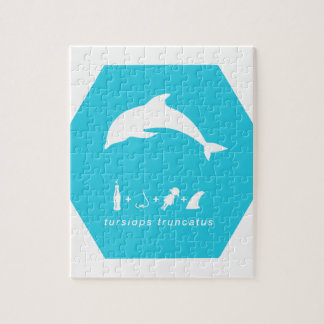 bottlenose dolphin blue hex.png jigsaw puzzle