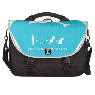 bottlenose dolphin blue hex.png laptop commuter bag