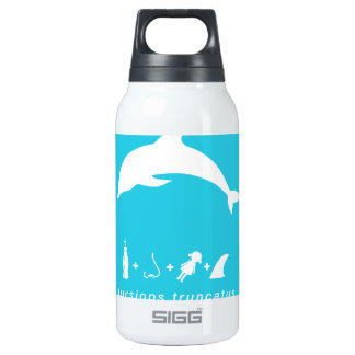 bottlenose dolphin blue hex.png thermos bottle