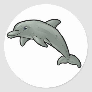 Bottlenose Dolphin Classic Round Sticker