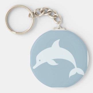 Bottlenose Dolphin Icon Keychain