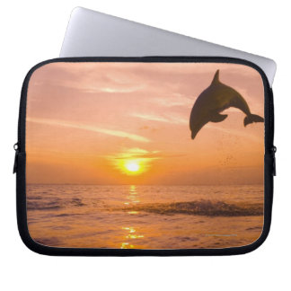Bottlenose Dolphin jumping 2 Computer Sleeve