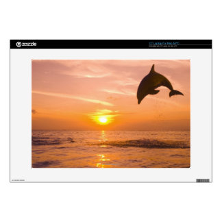 """Bottlenose Dolphin jumping 2 Decal For 15"""" Laptop"""