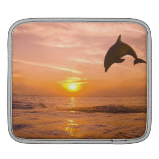 Bottlenose Dolphin jumping 2 Sleeve For iPads