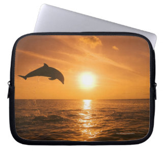 Bottlenose Dolphin jumping Computer Sleeve