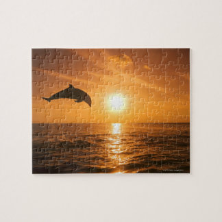 Bottlenose Dolphin jumping Jigsaw Puzzle