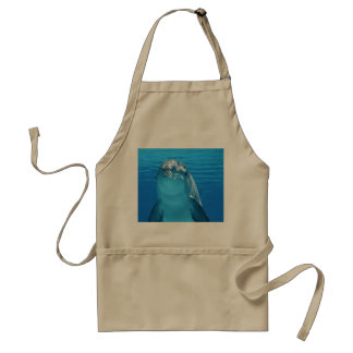 Bottlenose Dolphin looks at the camera under water Adult Apron
