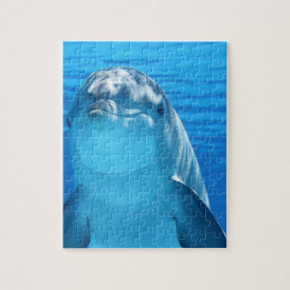 Bottlenose Dolphin looks at the camera under water Jigsaw Puzzle