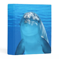 Bottlenose Dolphin looks at the camera under water Mini Binder