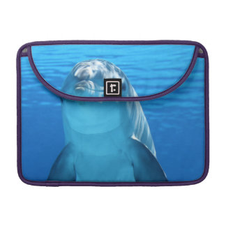 Bottlenose Dolphin looks at the camera under water Sleeves For MacBook Pro