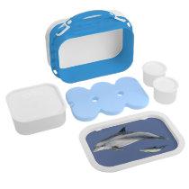Bottlenose dolphin lunch box - blue