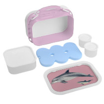 Bottlenose dolphin lunch box - pink