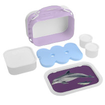 Bottlenose dolphin lunch box - purple