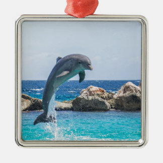 Bottlenose Dolphin Metal Ornament