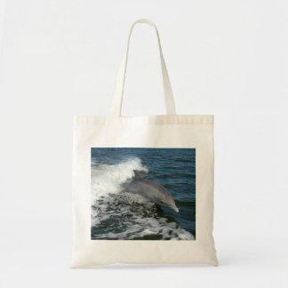 bottlenose dolphin photo reusable tote bag