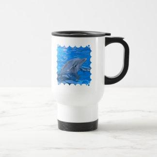 Bottlenose Dolphin Plastic Travel Mug