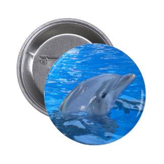 Bottlenose Dolphin Round Pin