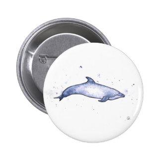 Bottlenose dolphin sea illustration pinback button