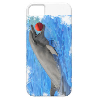 Bottlenose dolphin swimming with red ball iPhone 5 covers