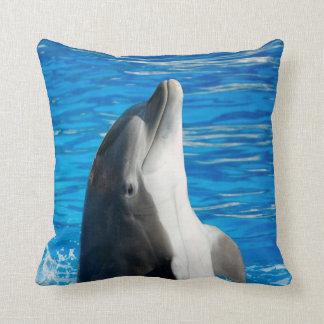 Bottlenose Dolphin Throw Pillow