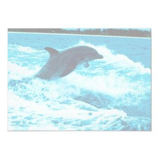 Bottlenose dolphin (Tursiops truncatus), Bahama Is 5x7 Paper Invitation Card