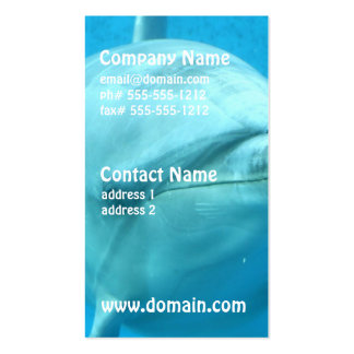Bottlenose Dolphin Underwater Double-Sided Standard Business Cards (Pack Of 100)