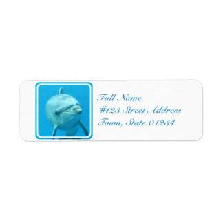 Bottlenose Dolphin Underwater Return Address Label