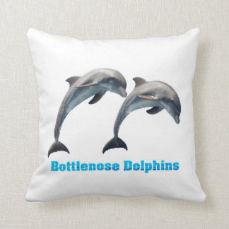 Bottlenose Dolphins image f Polyester-Throw-Pillow Throw Pillow