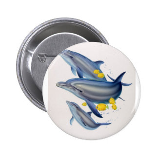 Bottlenose Dolphins in Concert Buttons