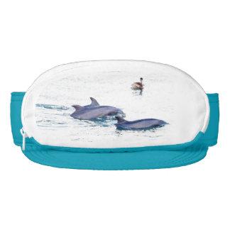 Bottlenose Dolphins & Pelican Ocean Cap-Sac Hat