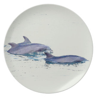 Bottlenose Dolphins Plate