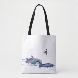 Bottlenose Dolphins Wildlife Animal Ocean Tote Bag