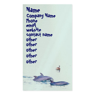Bottlenose Dolphins Wildlife Animals Ocean Business Card