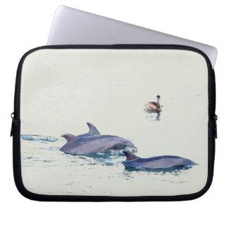 Bottlenose Dolphins Wildlife Animals Ocean Computer Sleeve