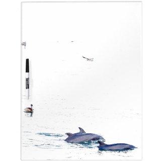 Bottlenose Dolphins Wildlife Animals Ocean Dry-Erase Board