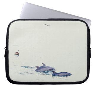 Bottlenose Dolphins Wildlife Animals Ocean Laptop Sleeve