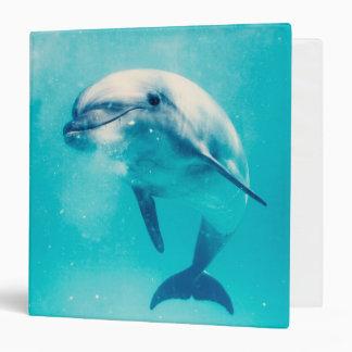 Bottlenosed Dolphin Underwater 3 Ring Binder