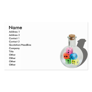 BottleOfChanceCard, Name, Address 1, Address 2,... Business Cards