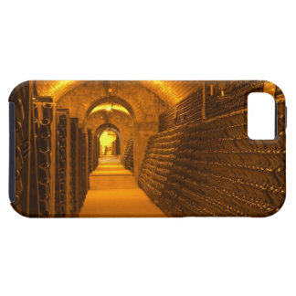 Bottles aging either in pupitres (racks) waiting iPhone SE/5/5s case