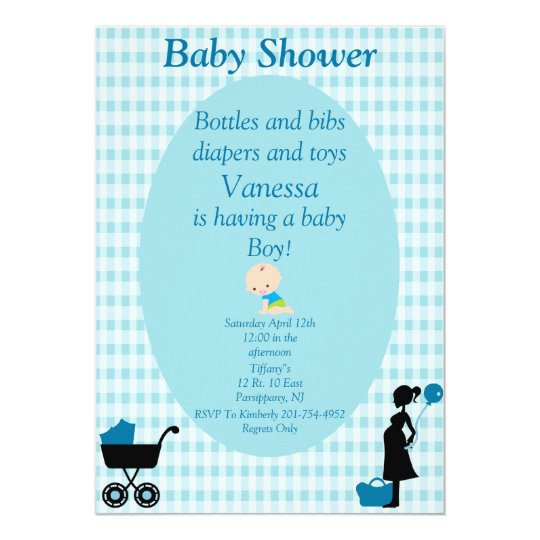 Bottles and bibs diapers and toys baby boy card