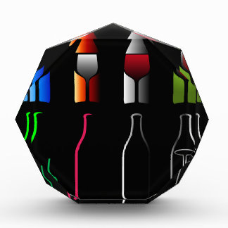 Bottles and glasses- spirits acrylic award
