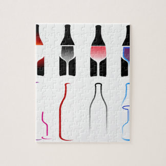 Bottles and glasses- spirits jigsaw puzzle
