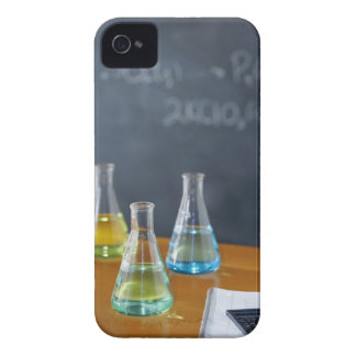 Bottles arranged for science experiment iPhone 4 Case-Mate case