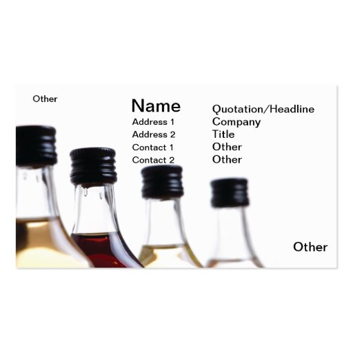 Bottles Double-Sided Standard Business Cards (Pack Of 100)