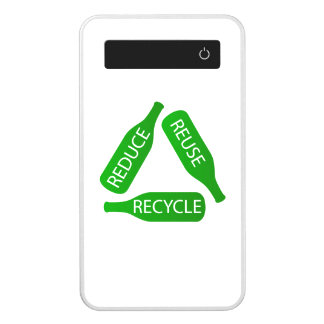 Bottles forming the recycle icon power bank