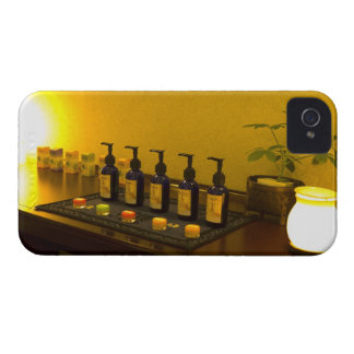 Bottles of aromatherapy oil in the beauty salon, iPhone 4 case