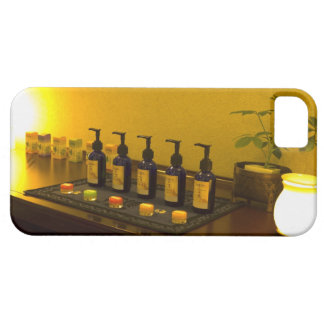 Bottles of aromatherapy oil in the beauty salon, iPhone SE/5/5s case